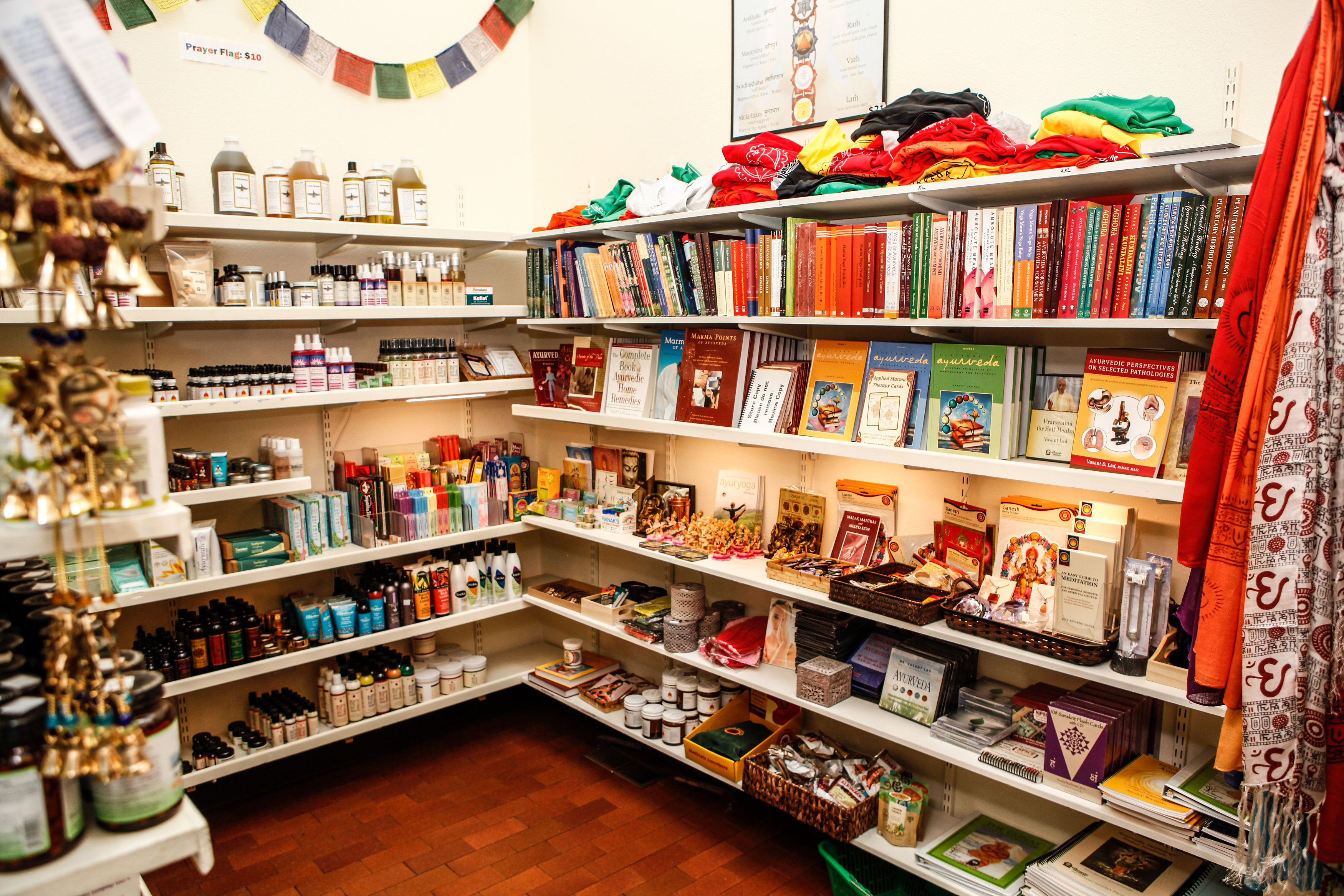 The Ayurvedic Institute Store in the Main Office