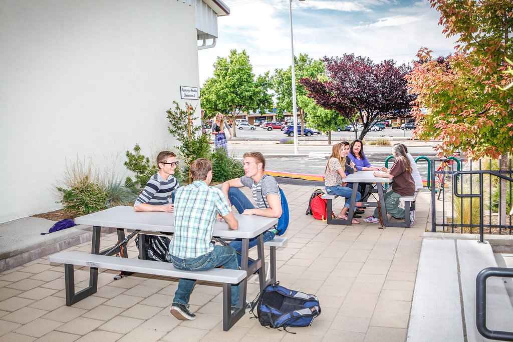 Outdoor Tables for Student Breaks