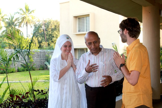 Visiting with Students at VIOA in India 2013